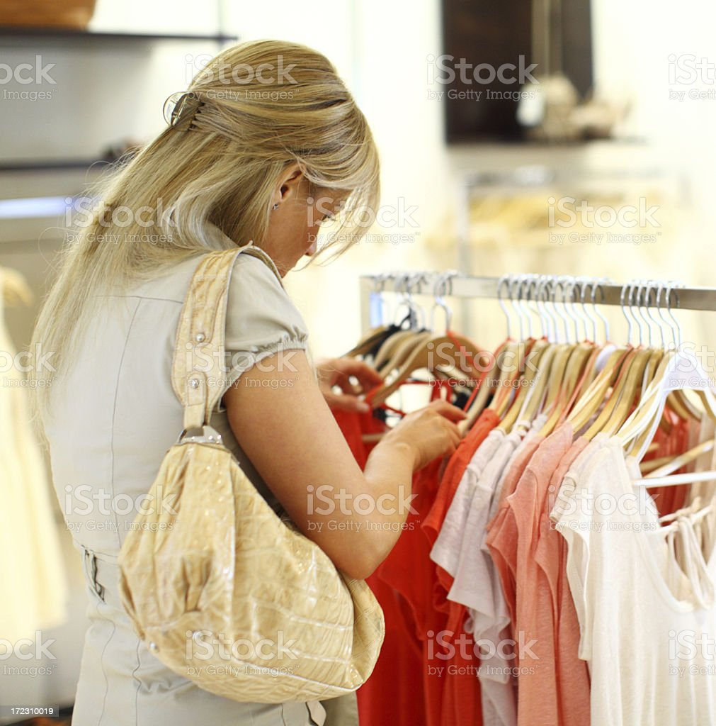 Choosing clothes. royalty-free stock photo