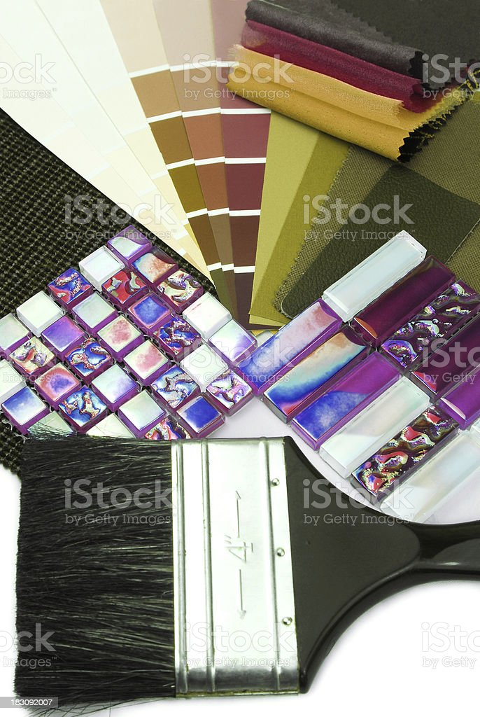 choosing color paint and material for interior royalty-free stock photo