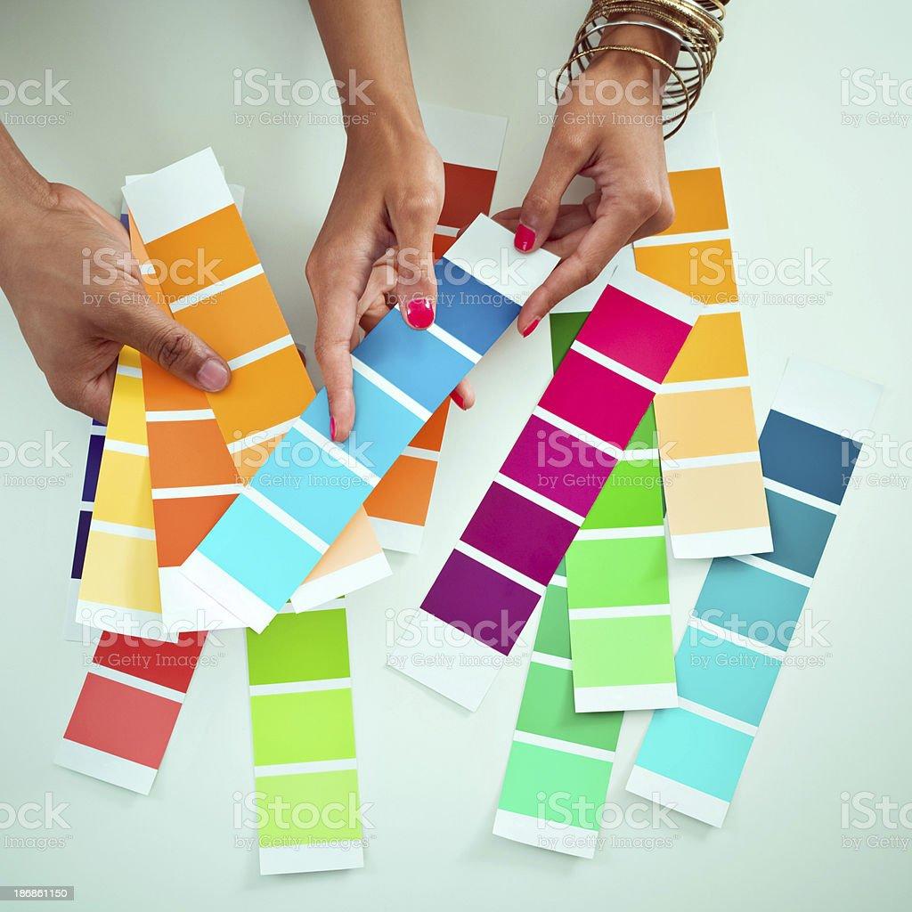 Choosing colors royalty-free stock photo