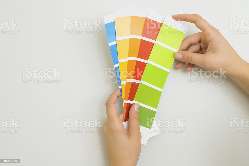 Choosing colour scheme royalty-free stock photo
