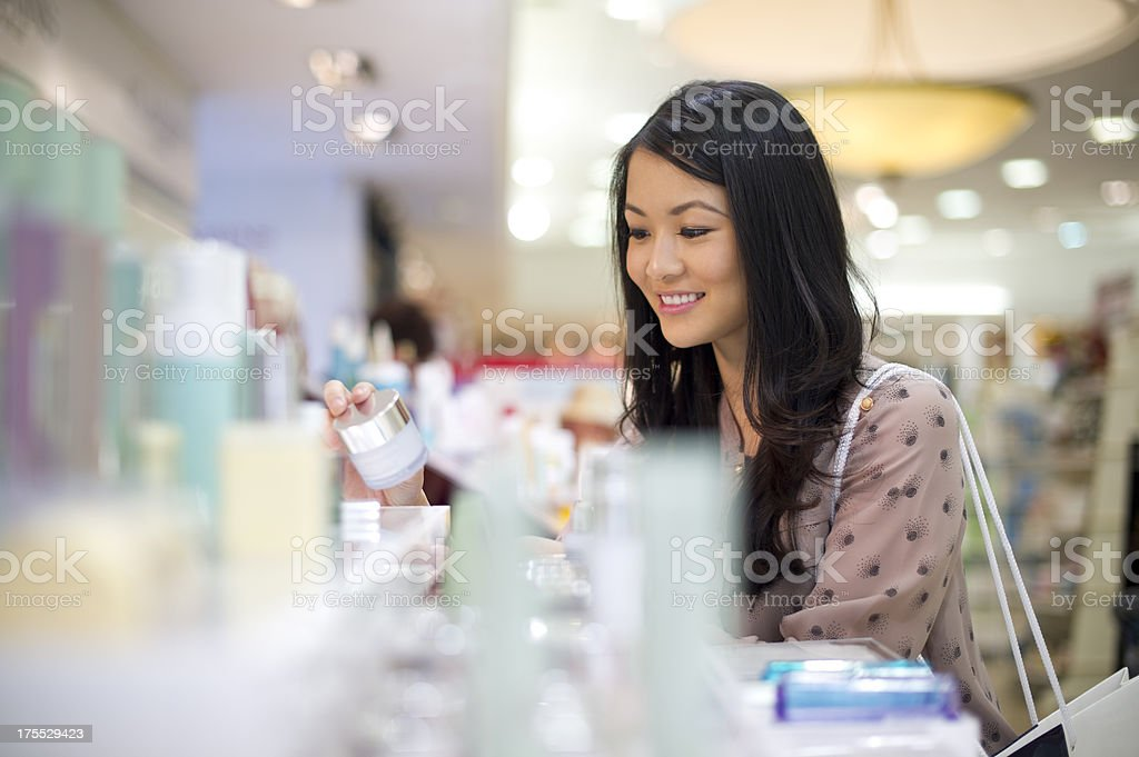choosing cosmetics royalty-free stock photo