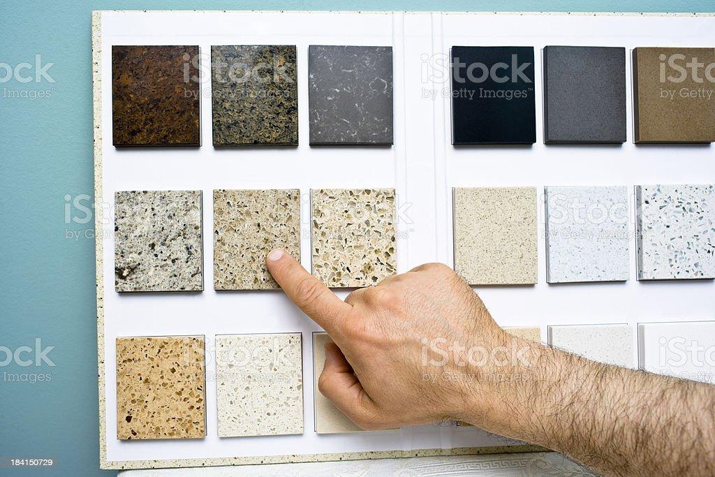 Choosing counter top pattern royalty-free stock photo