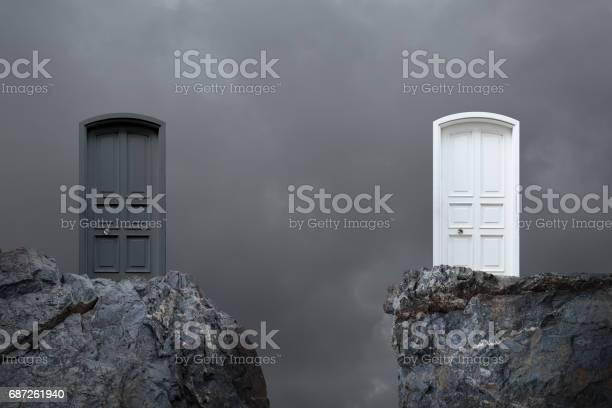 Choosing door.