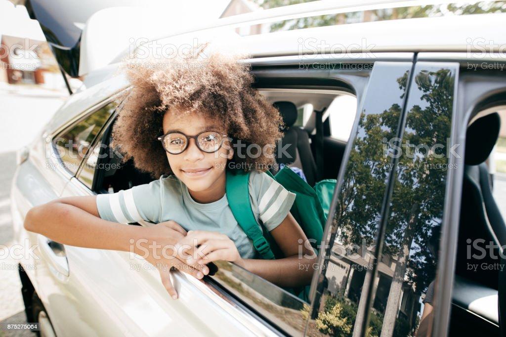 Choosing family car stock photo
