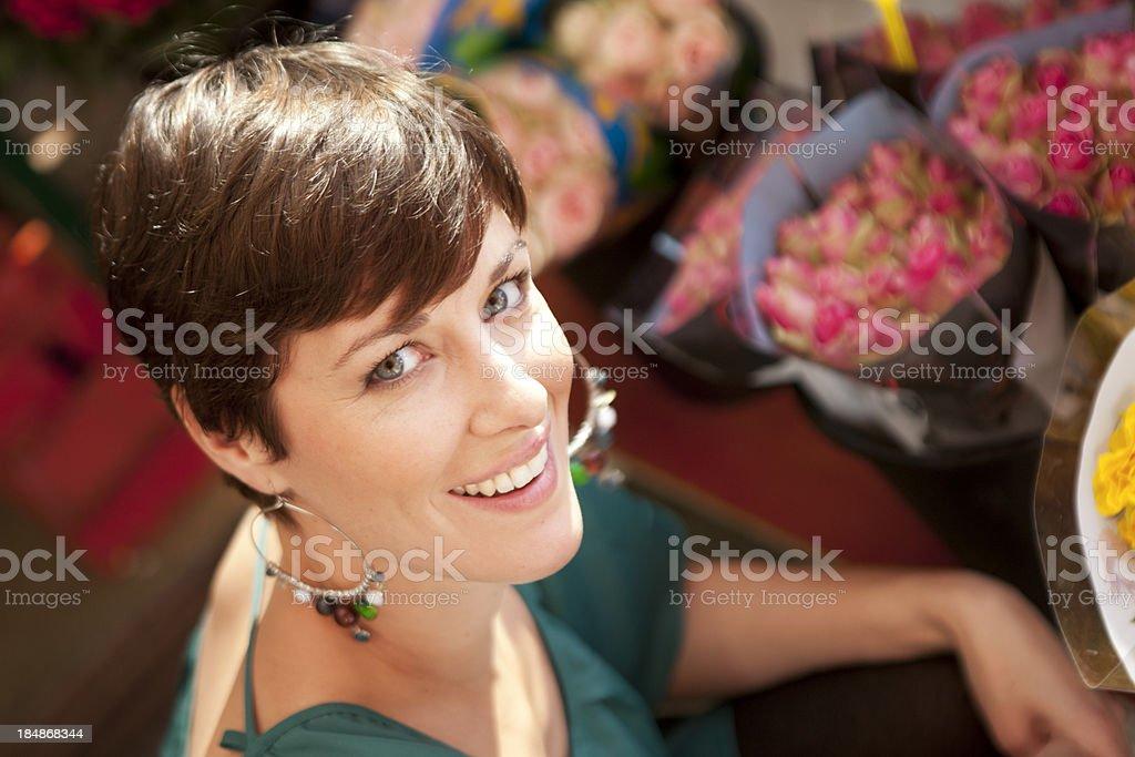 choosing flowers royalty-free stock photo