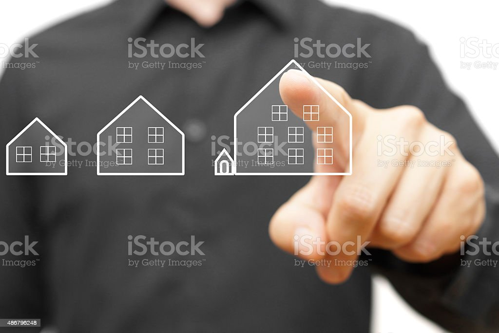 choosing perfect house for your needs stock photo