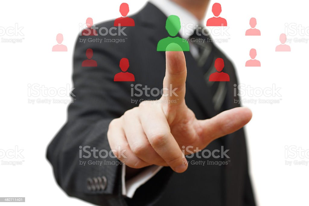 Choosing the right person for partnership stock photo