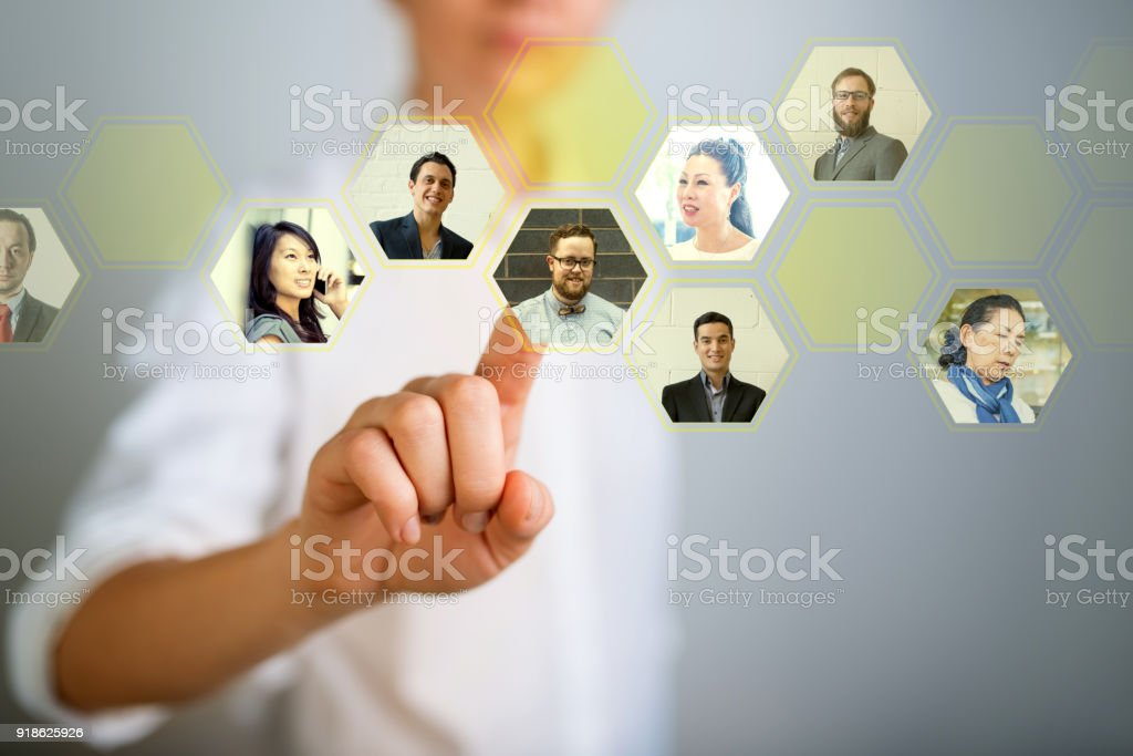 Choosing the right person stock photo
