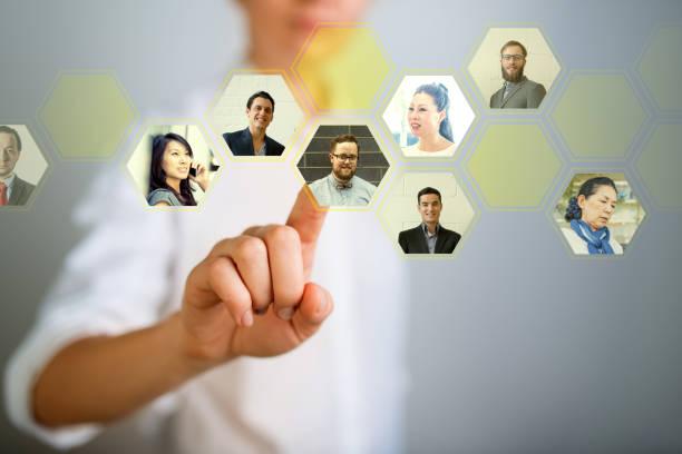 choosing the right person - people icon foto e immagini stock