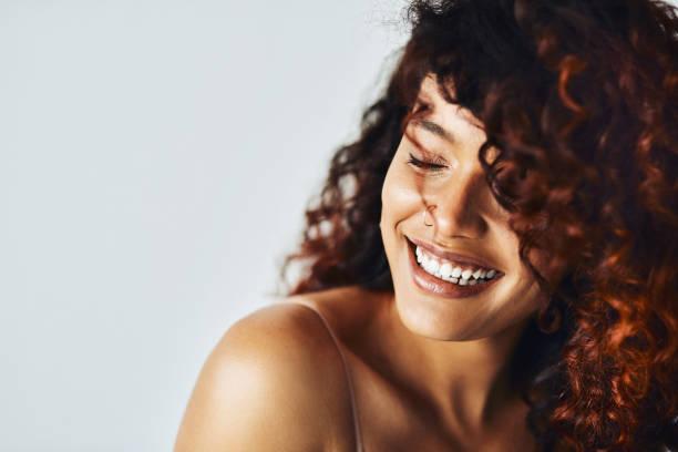 Choosing to smile my way through life stock photo