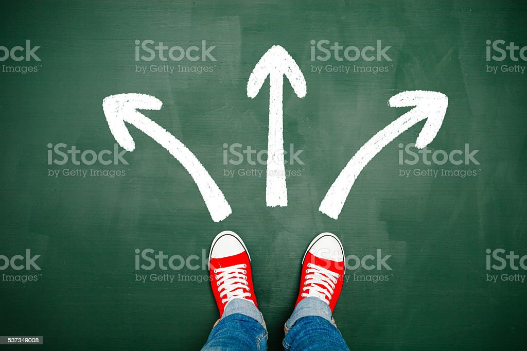Choosing your way stock photo