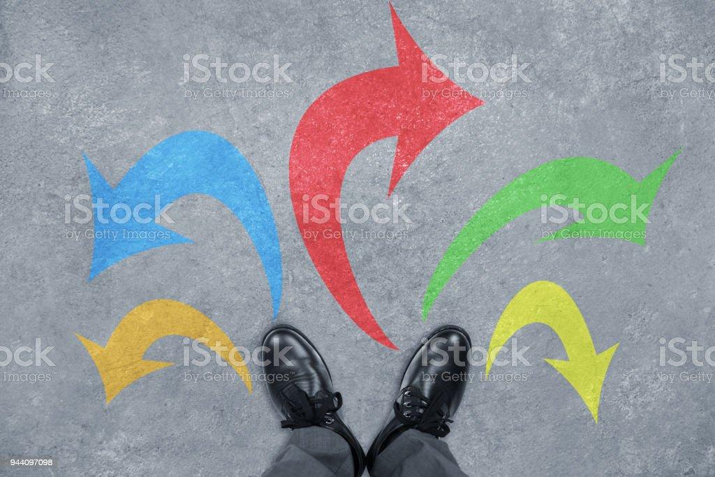 Choosing,Thinking stock photo