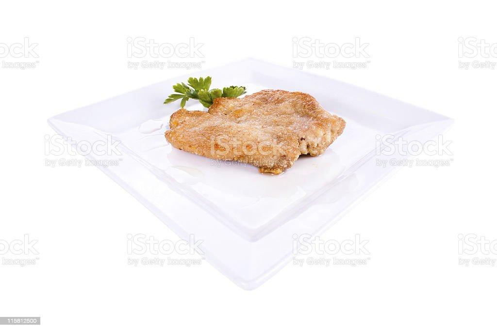 Chop breaded royalty-free stock photo