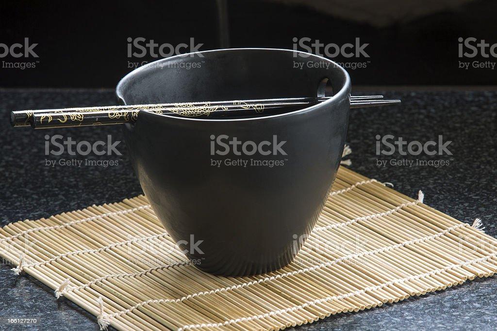 Chop Sticks and Bowl stock photo