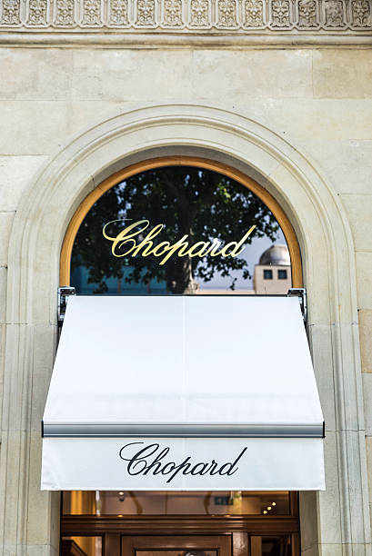Chopard shop, Barcelona Barcelona, Spain - May 25, 2016: Chopard shop located on Passeig de Gracia, one of the most expensive streets in Europe. gracia baur stock pictures, royalty-free photos & images