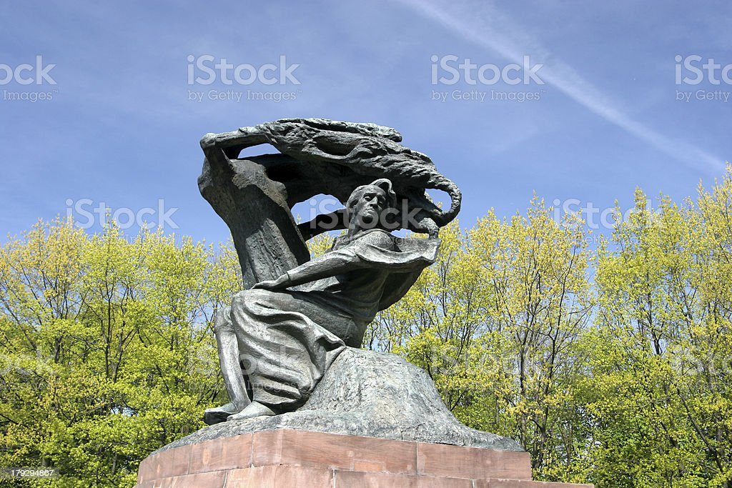 Chopin Monument stock photo