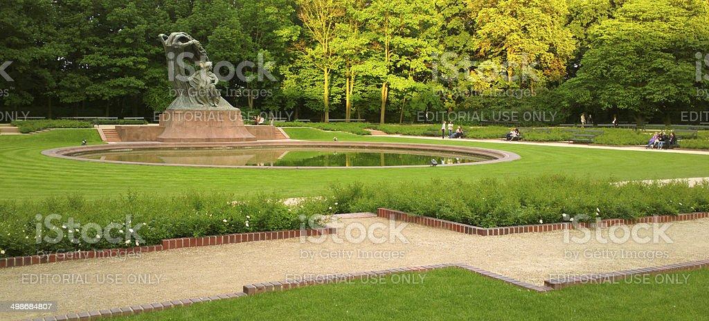 Chopin Statue, Warsaw stock photo