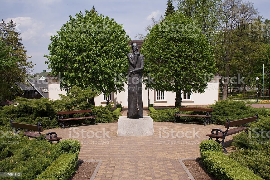 Chopin's monument stock photo