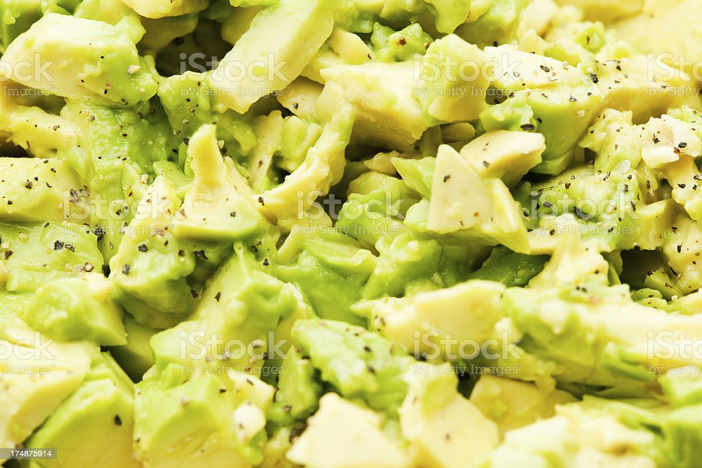 Chopped Avocado and Pepper Guacamole royalty-free stock photo