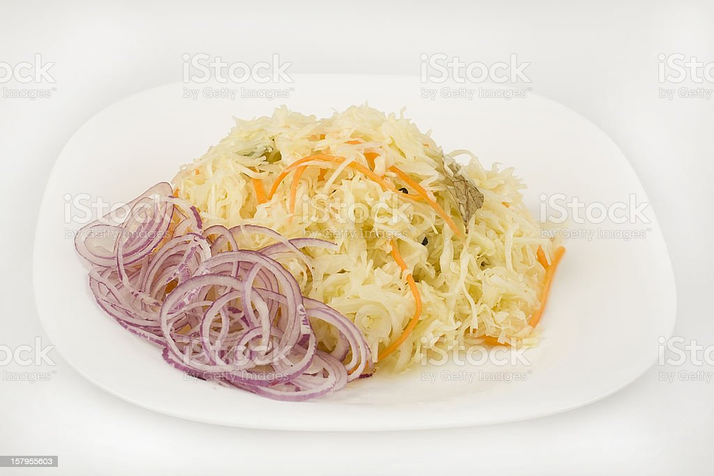 chopped cabbage leaf royalty-free stock photo