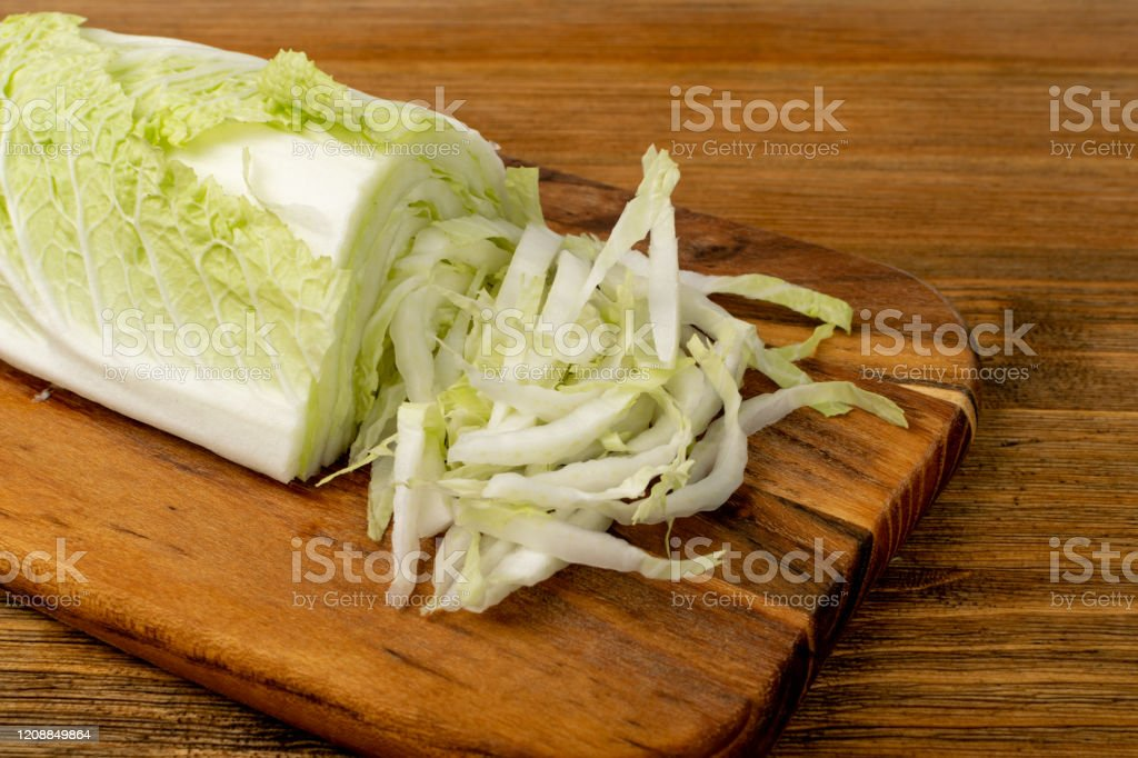 Chopped Chinese Cabbage Napa Cabbage Or Wombok Stock Photo Download Image Now Istock