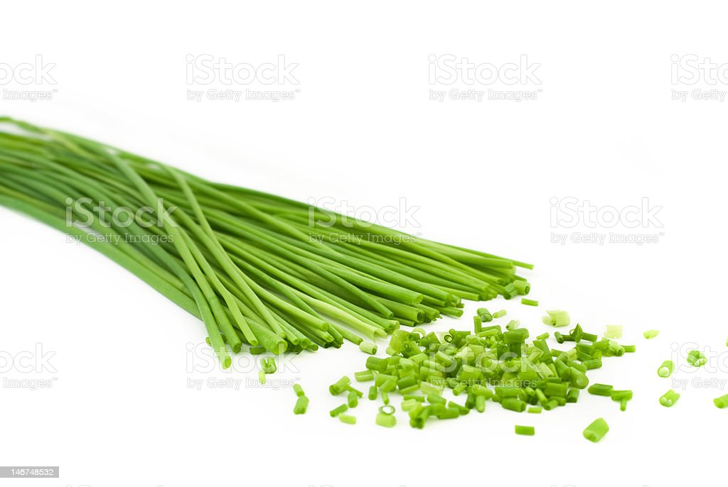 chopped chive royalty-free stock photo
