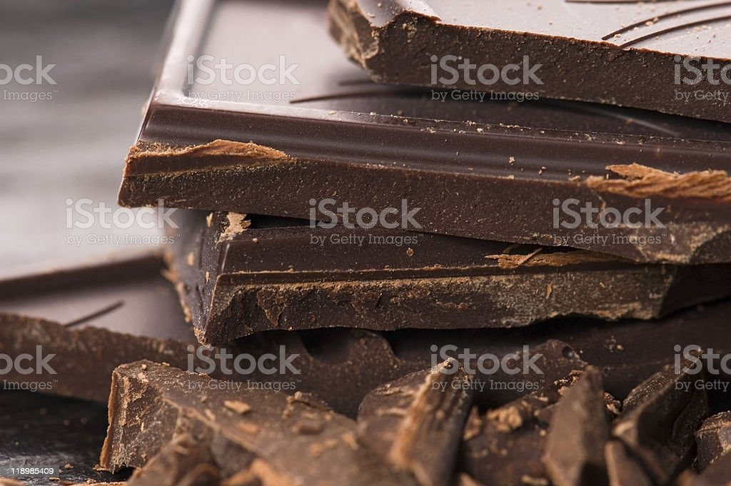 Chopped chocolate royalty-free stock photo