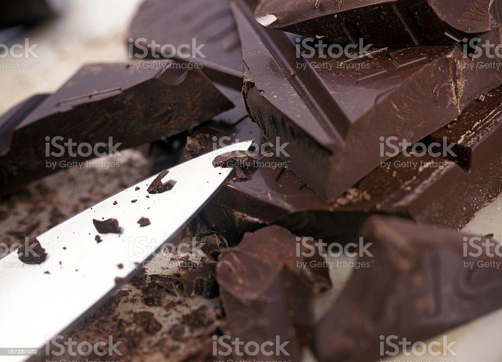 chopped chocolate royalty-free stock photo