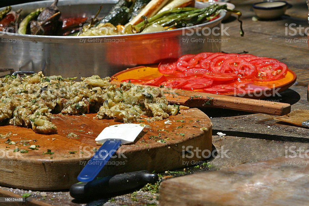 chopped eggplant royalty-free stock photo