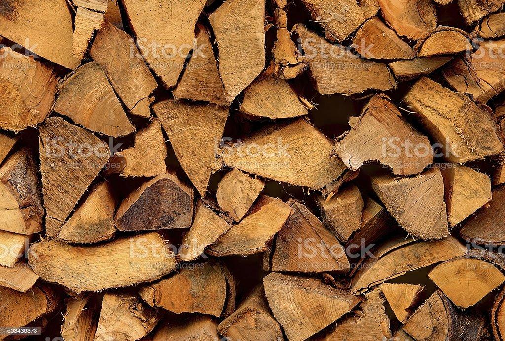 Chopped firewood stock photo