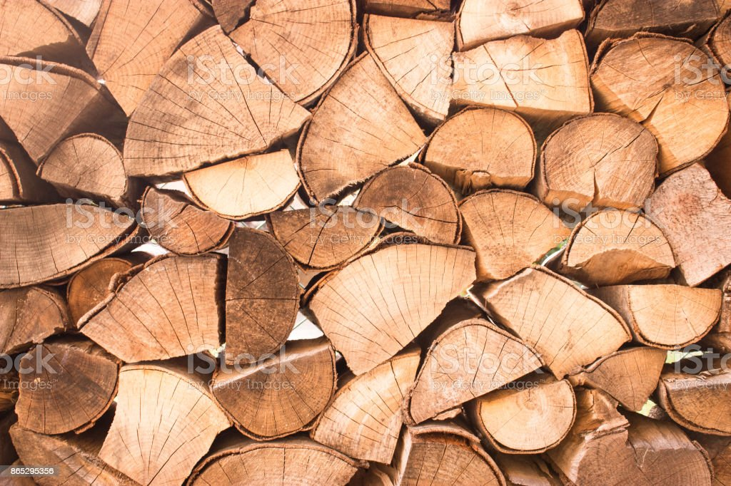 Chopped firewoods stock photo