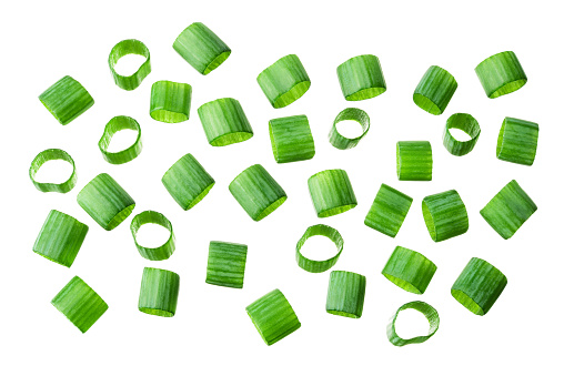 Gehackte Frische Grüne Zwiebeln Frühling Gehackte Zwiebeln Grüne Zwiebel Isoliert Flach Liegen Stockfoto und mehr Bilder von Blatt - Pflanzenbestandteile
