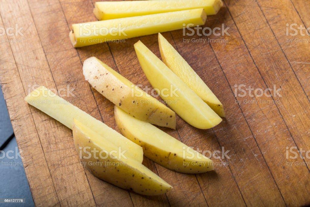 Chopped Fresh Potato foto stock royalty-free