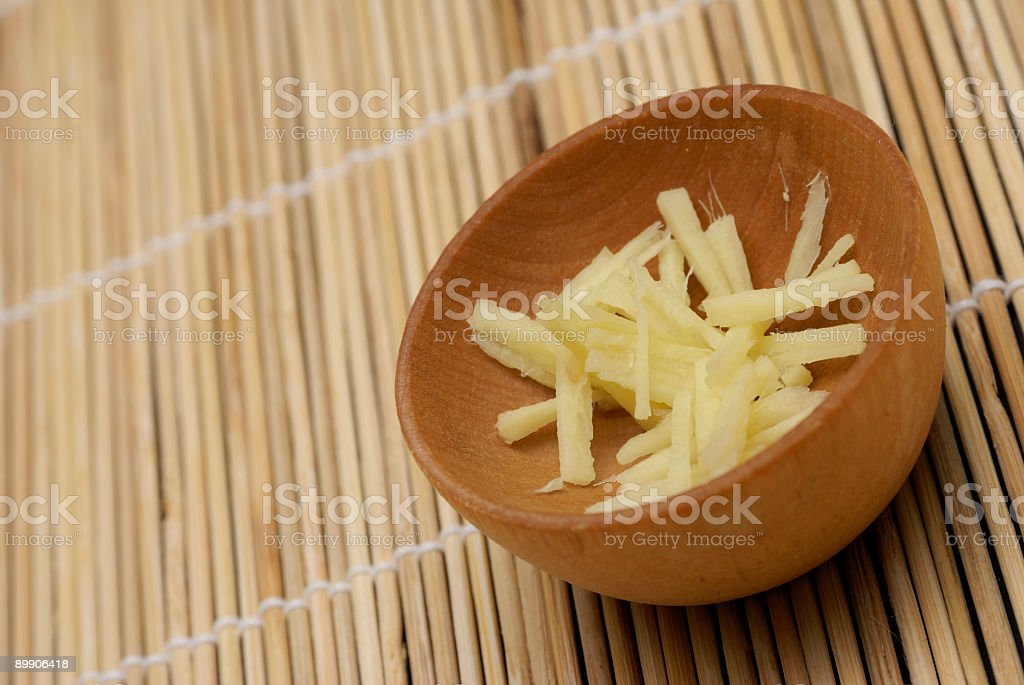 Chopped ginger askew royalty-free stock photo
