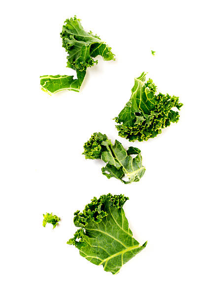 Chopped Kale Isolated on White Chopped kale isolated on white background. kale stock pictures, royalty-free photos & images