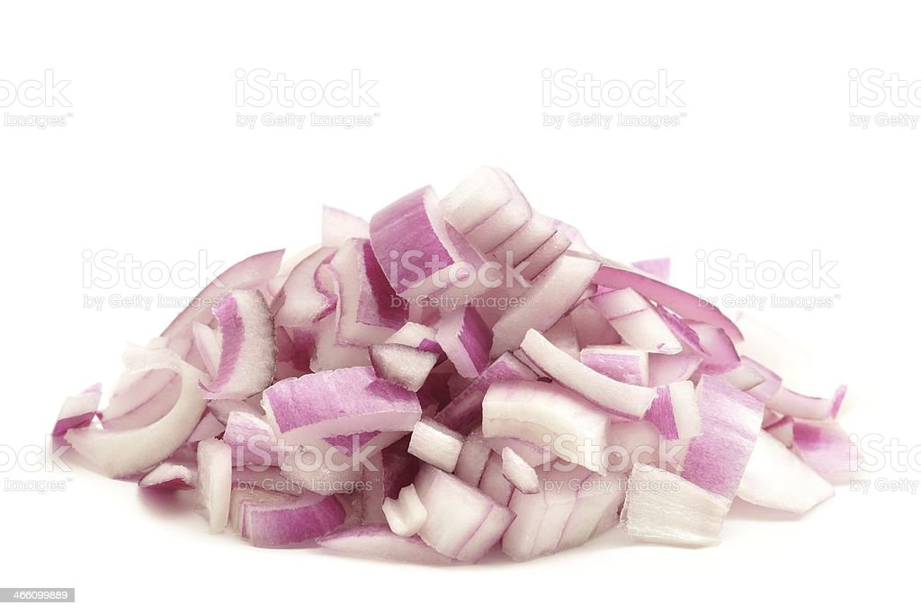 Chopped red onion stock photo