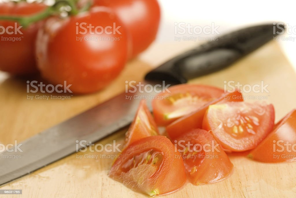 Chopped tomatoes royalty-free stock photo