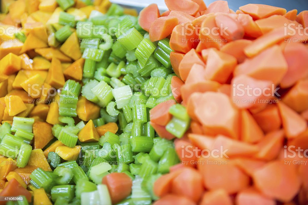 Chopped Vegetable royalty-free stock photo