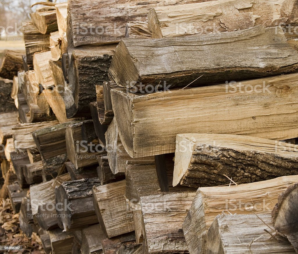Chopped wood royalty-free stock photo