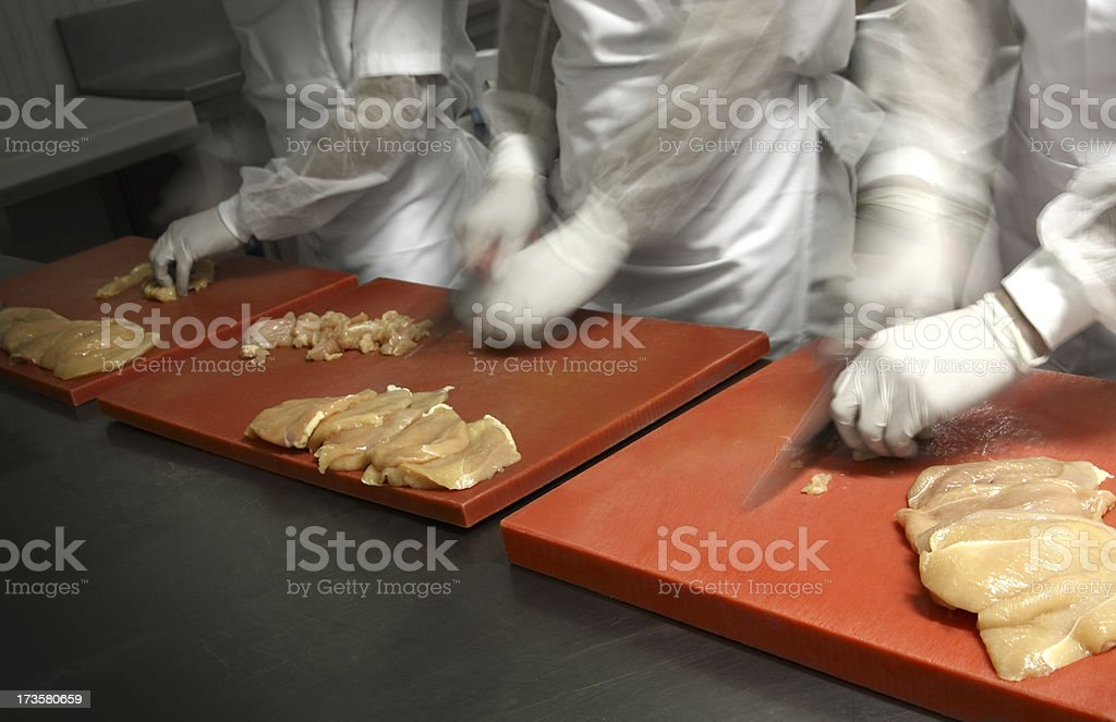 chopping chicken royalty-free stock photo