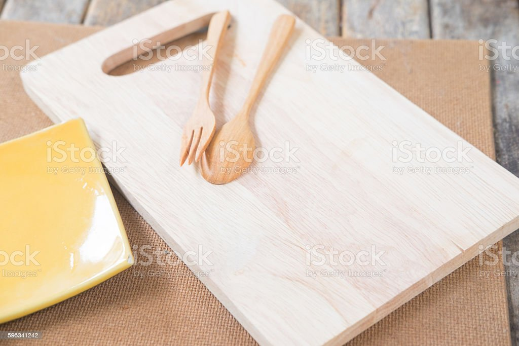 Chopping cutting board block royalty-free stock photo