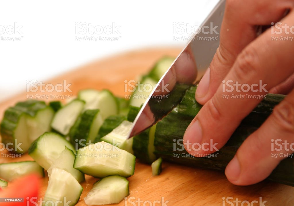 Chopping vegatables royalty-free stock photo