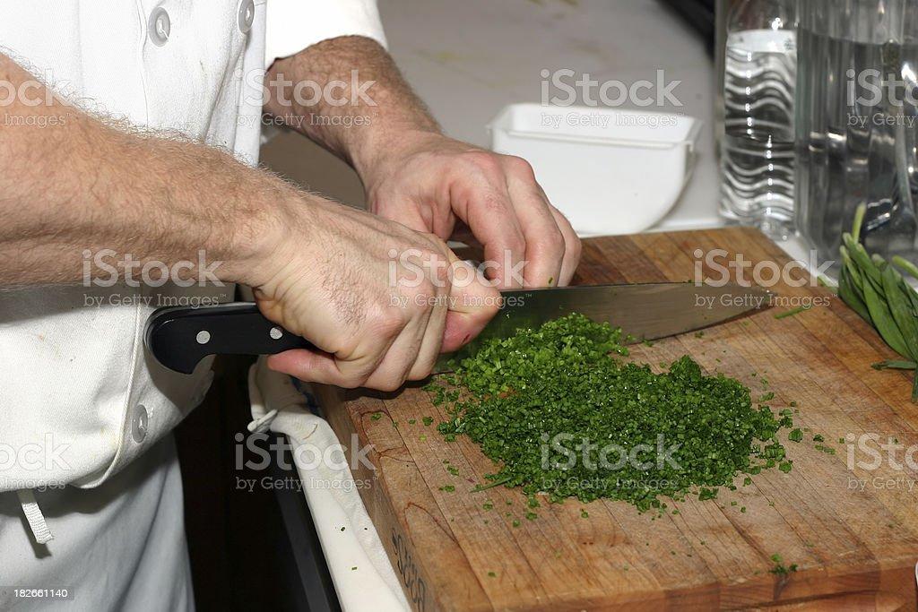 Chopping Veggies royalty-free stock photo