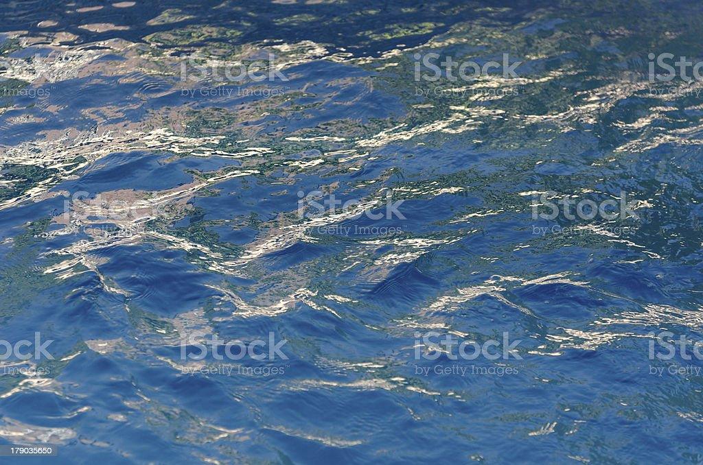 Choppy Blue Water Surface Texture royalty-free stock photo
