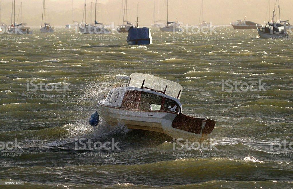 Choppy Sea royalty-free stock photo