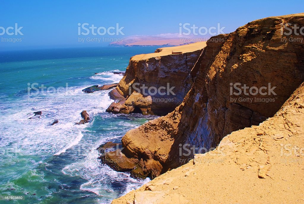Choppy Waters at Paracas National Reserve, Peru stock photo
