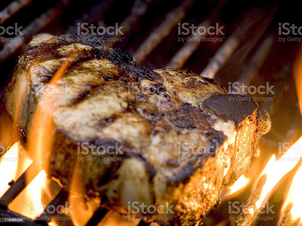 chops grill flames royalty-free stock photo