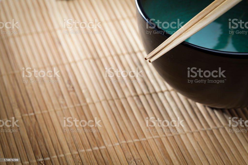 Chopsticks and bowl royalty-free stock photo