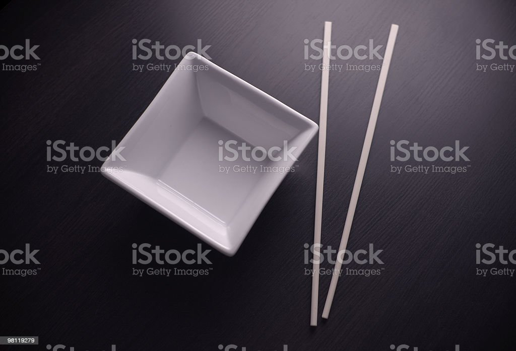 Chopsticks and Dish royalty-free stock photo