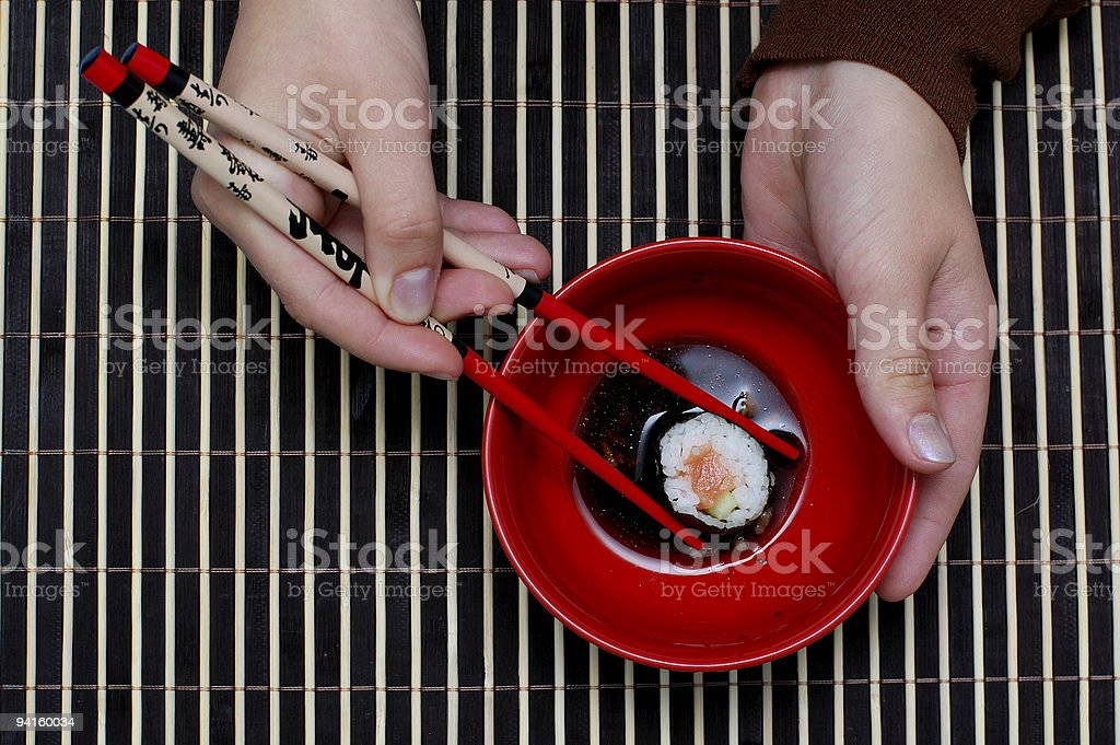 chopsticks and food royalty-free stock photo